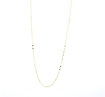 40cm Mirror Chain in 10ct Yellow Gold