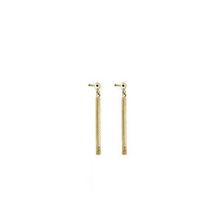 Rectangle Earrings in 10ct Yellow Gold