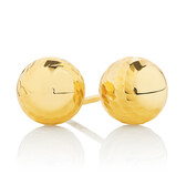 Ball Stud Earrings in 10ct Yellow Gold