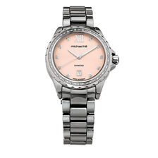 Ladies Watch With Diamonds in Grey Ceramic