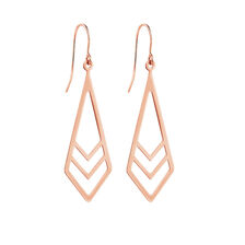 Geometric Drop Earrings in 10ct Rose Gold
