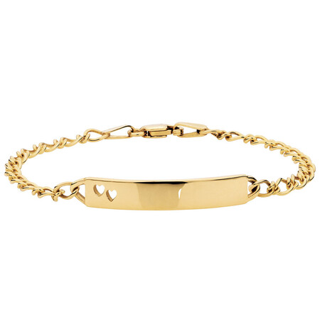 "19cm (7.5"") Baby Identity Bracelet in 10ct Yellow Gold"