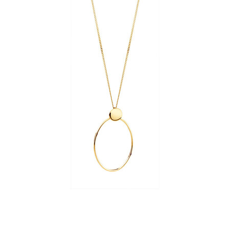Geometric Drop Pendant in 10ct Yellow Gold