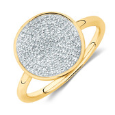 Ring With 0.20 Carat TW Of Diamonds In 10ct Yellow Gold