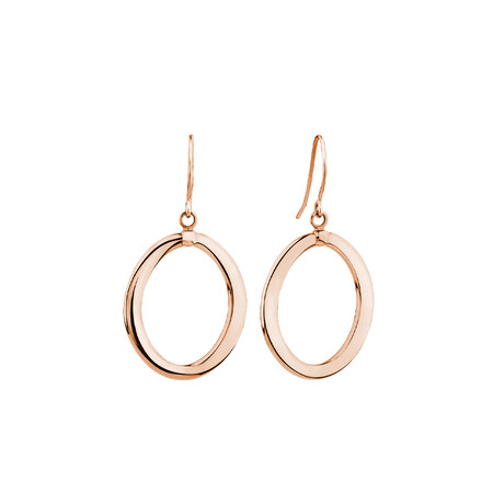 Drop Earrings in 10ct Rose Gold