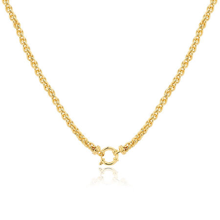 "45cm (18"") Hollow Wheat Chain in 10ct Yellow Gold"