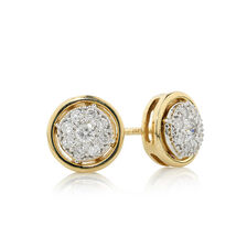Online Exclusive - Stud Earrings with 1/4 Carat TW of Diamonds in 10ct Yellow Gold