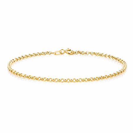 "19cm (7.5"") Belcher Bracelet in 10kt Yellow Gold"