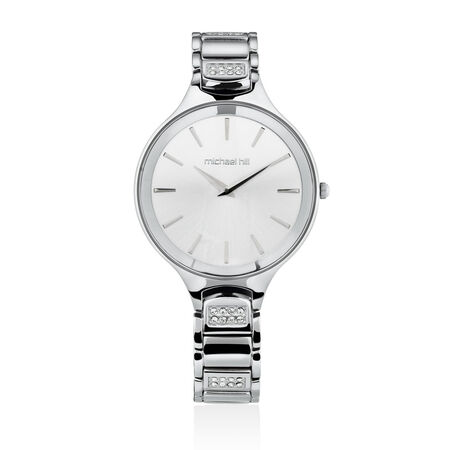 Ladies' Watch with Crystals in Stainless Steel