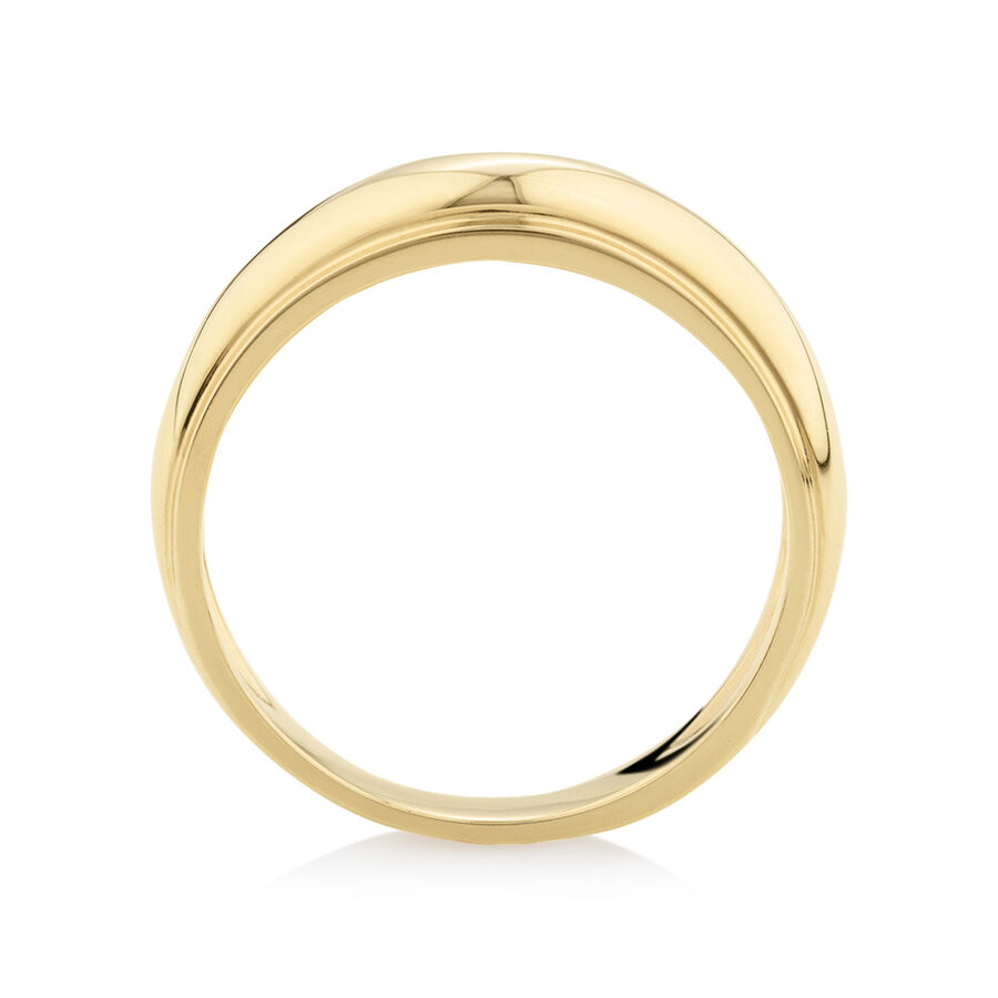 Dome Ring in 10ct Yellow Gold