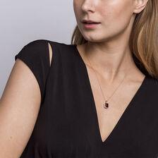 Pendant with Rhodolite Garnet & Diamonds in 10ct Rose Gold