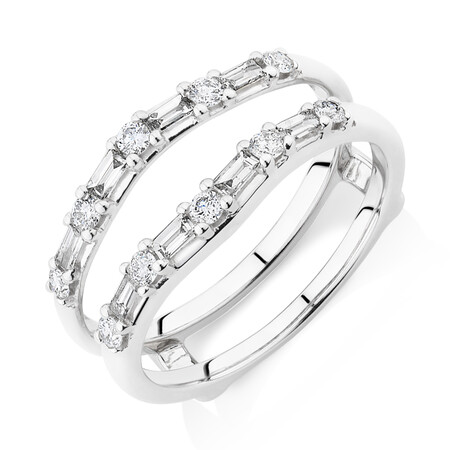 Enhancer Ring with 0.45 Carat TW of Diamonds in 10ct White Gold