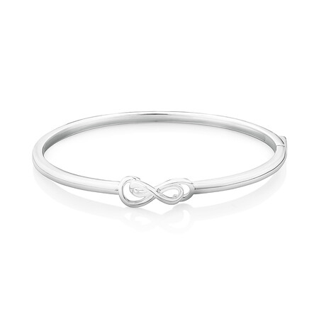 62mm Double Infinity Bangle in Sterling Silver