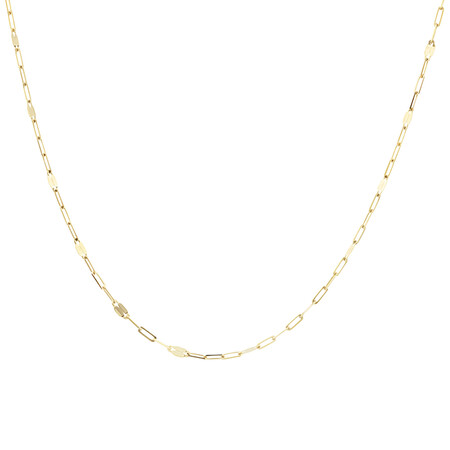 50cm Oval Mirror Cable Chain in 10ct Yellow Gold
