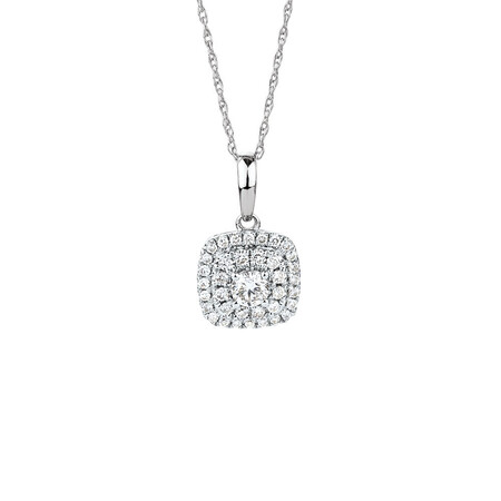 Pendant with 0.304 Carat TW of Diamonds in 10ct White Gold