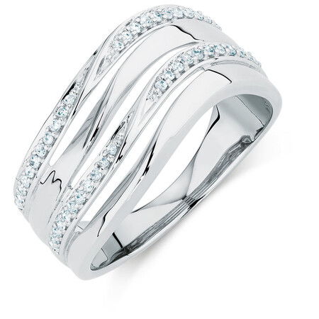Online Exclusive - Ring with 0.20 Carat TW of Diamonds in Sterling Silver