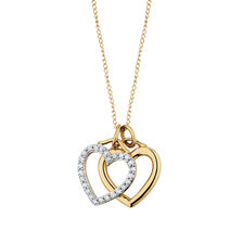 Online Exclusive - Pendant with 1/4 Carat TW of Diamonds in 10ct Yellow & White Gold