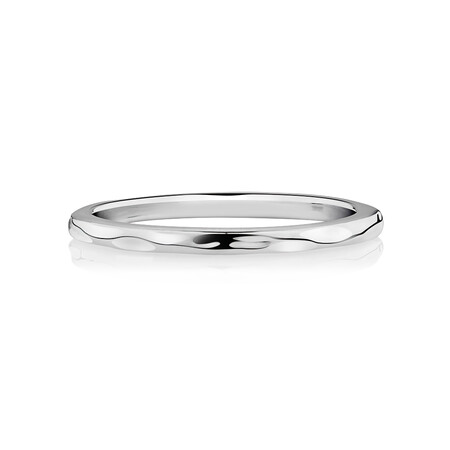 Hammered Finish Ring in Sterling Silver