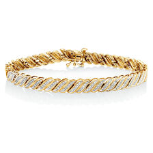 Bracelet with 1 Carat TW of Diamonds in 10ct Yellow Gold