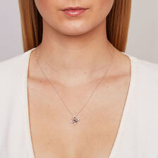 Online Exclusive - Pendant with 0.15 Carat TW of White & Enhanced Black Diamonds in Sterling Silver