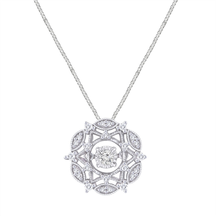 Everlight Pendant With 0.20 Carat TW Of Diamonds In 10ct White Gold
