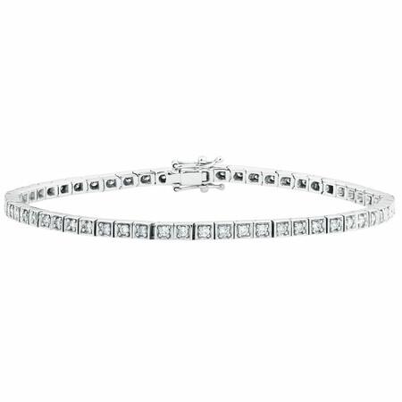 Tennis Bracelet with 1 Carat TW of Diamonds in 10ct White Gold