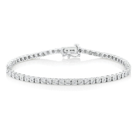 Tennis Bracelet with 1/4 Carat TW of Diamonds in Sterling Silver