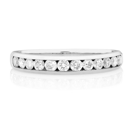 Wedding Band with 1/2 Carat TW of Diamonds in 10ct White Gold