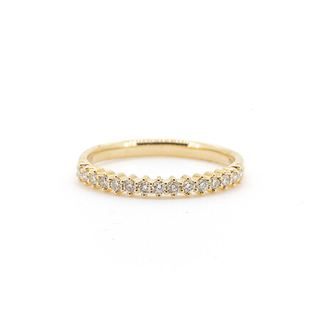 Stacker Ring with 0.25 Carat TW of Diamonds in 10ct Yellow Gold