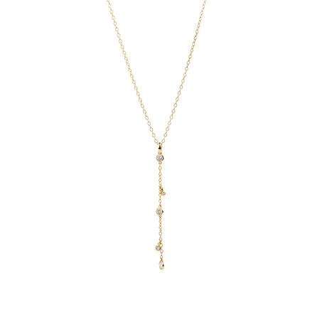 Pendant with 0.19 Carat TW of Diamonds in 10ct Yellow Gold