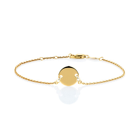 Compass Bracelet with Diamonds in 10ct Yellow Gold