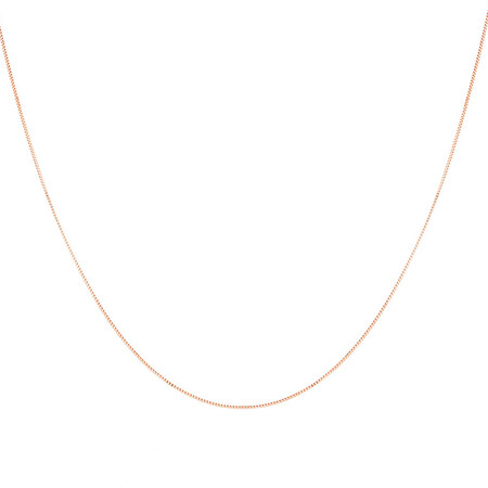 "70cm (28"") Box Chain in 10ct Rose Gold"