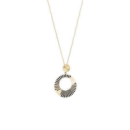Double Circle Pendant in 10ct Yellow Gold