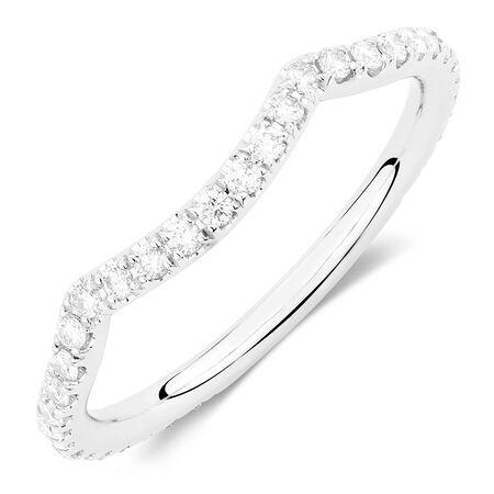 Sir Michael Hill Designer GrandAdagio Wedding Band with 0.39 Carat TW of Diamonds in 14ct White Gold