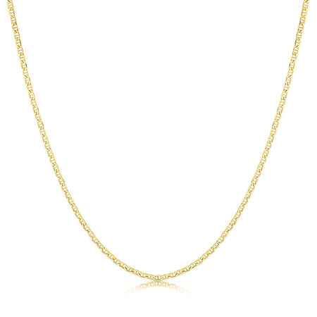 """50cm (20"""") Anchor Chain in 10ct Yellow Gold"""