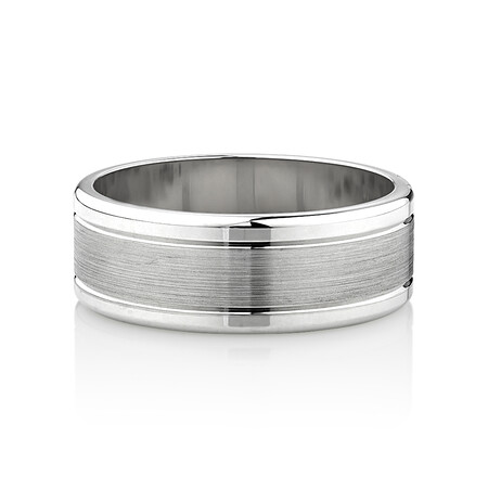 Wedding Band in 10ct White Gold