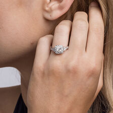Sir Michael Hill Designer GrandAmoroso Engagement Ring with 0.98 Carat TW of Diamonds in 14ct White & Rose Gold