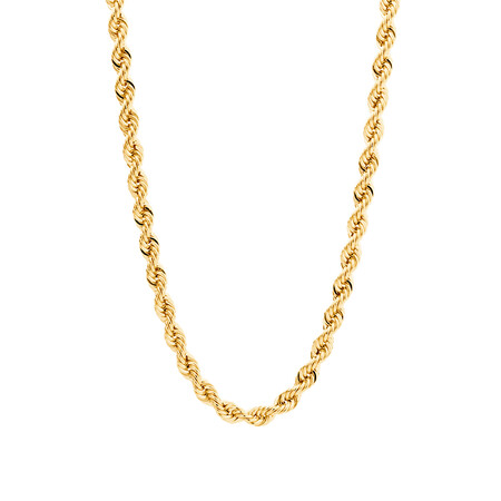 """55cm (22"""") Rope Chain in 10ct Yellow Gold"""