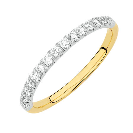 Online Exclusive - Wedding Band with 0.30 Carat TW of Diamonds in 14ct Yellow and White Gold