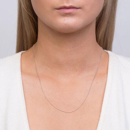"""50cm (20"""") Hollow Belcher Chain in 10ct White Gold"""