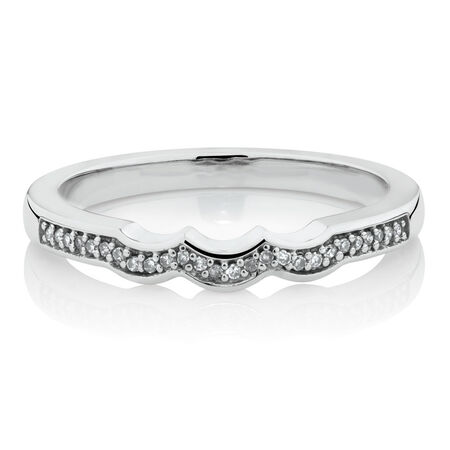 Online Exclusive - Diamond Ring in 10ct White Gold
