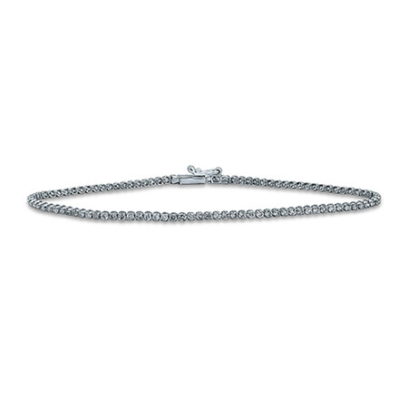 Tennis Bracelet with 1.50 Carat TW of Diamonds in 14ct White Gold