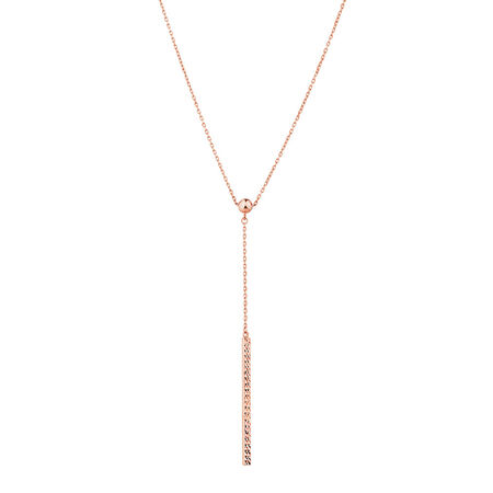 Adjustable Bar Necklace in 10ct Rose Gold