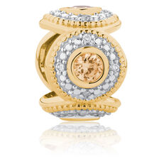 Aztec Charm with Champagne Cubic Zirconia in 10ct Yellow Gold