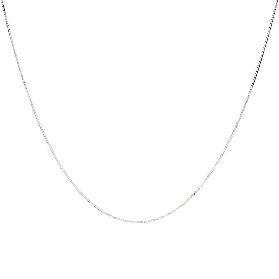 """45cm (18"""") Box Chain in 18ct White Gold"""