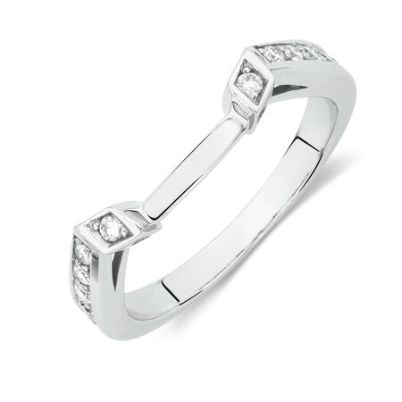 Online Exclusive - Wedding Band with 1/4 Carat TW of Diamonds in 14ct White Gold