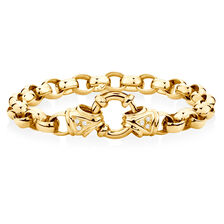 "21cm (8.5"") Diamond Set Bracelet in 10ct Yellow Gold"