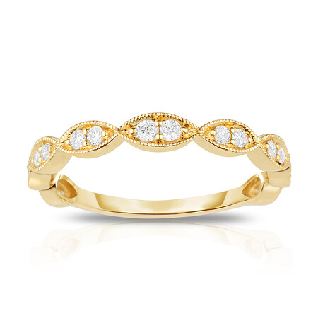 Stacker Ring with 0.23 Carat TW of Diamonds in 14ct Yellow Gold