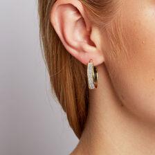 Stardust Hoop Earrings in 10ct Yellow Gold