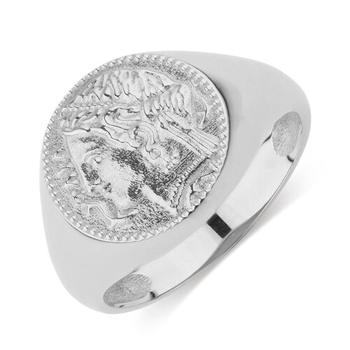 Coin Ring in Sterling Silver